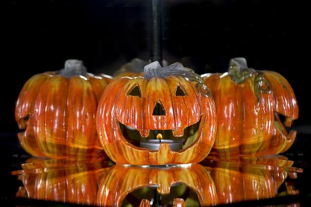 Halloween, Halloweenkuerbis, Decoration, Autumn