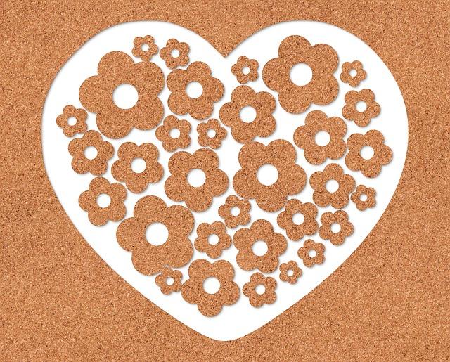 Heart, Texture Cork, Romantic, Decoration, Love, Square