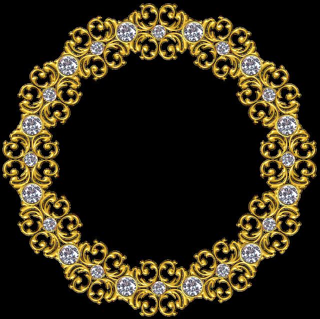 Gold, Frame, Round, Border, Decoration, Ornate, Antique