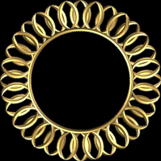 Frame, Gold, Ornate, Metal, Ornament, Decoration