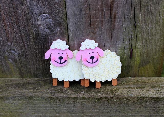 Sheep, Figurines, Decoration, Para, Easter, Funny Sheep