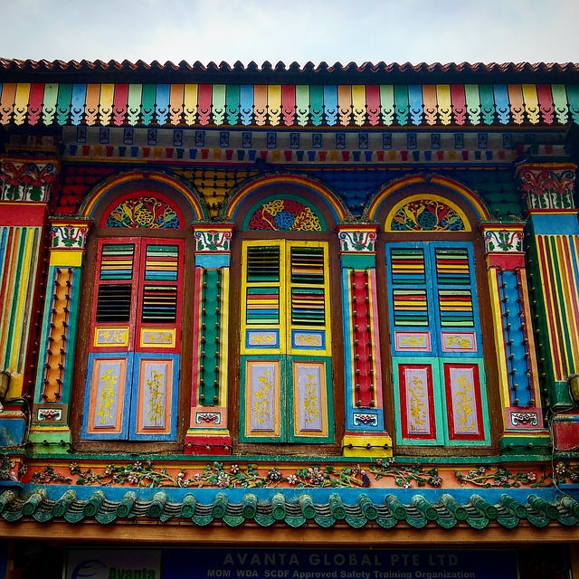 Singapore, House, Colourful, Decoration, Street