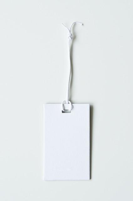 Label, Blank, Design, Paper, Tag, White, Decoration