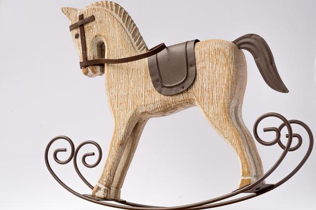 Horse, Rocking Horse, Decorative, Pair, Deco