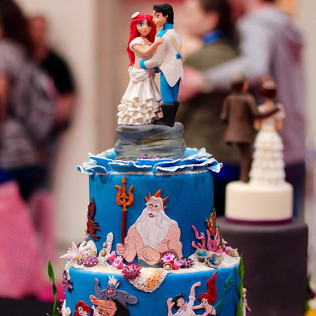 Cake, Arielle, Mermaid, Decorative, Art, Decorated