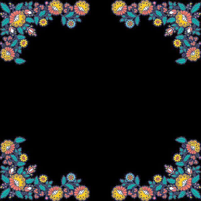 Floral, Flowers, Frame, Decorative, Ornamental, Border