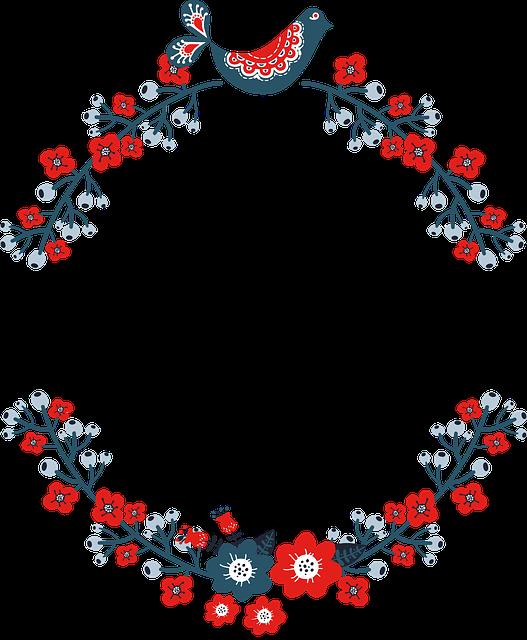 Wreath, Frame, Floral, Flourish, Border, Decorative