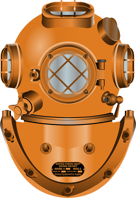 Diving Helmet, Diving, Deep, Marina, Navy, Ocean, Sea