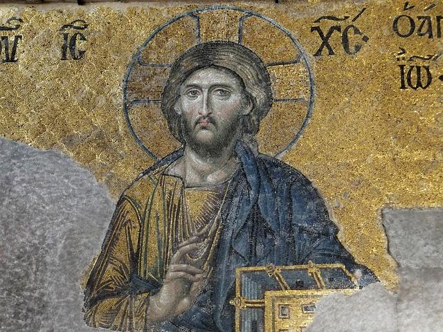 Deesis Mosaic, Christ, Hagia Sophia, Instabul
