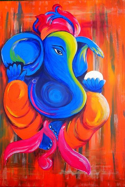 Elephant, Ganesha, God, Deity, India, Hindu