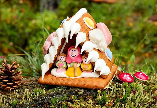 Gingerbread House, Knusperhaus, Delicacy, Crispy, Sweet
