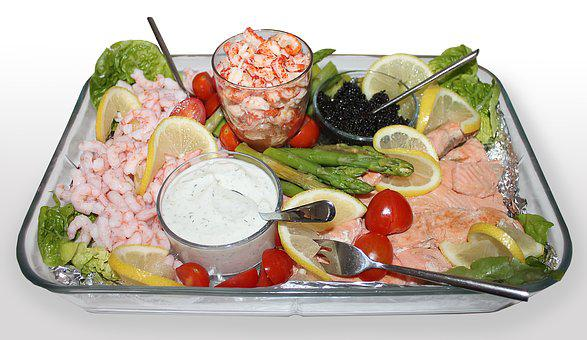 Food, Fish, Dining, Delicacy, Refreshments, Party Food