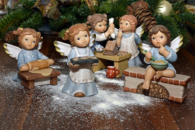 Angel, Bake, Decoration, Deco, Christmas, Delicious