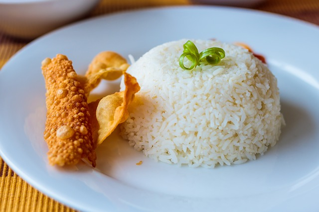 Rice, Poppadom, Food, Plate, Meal, Sweet, Delicious