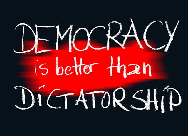 Demokratie, Dictatorship, Board, Chalk, Blackboard