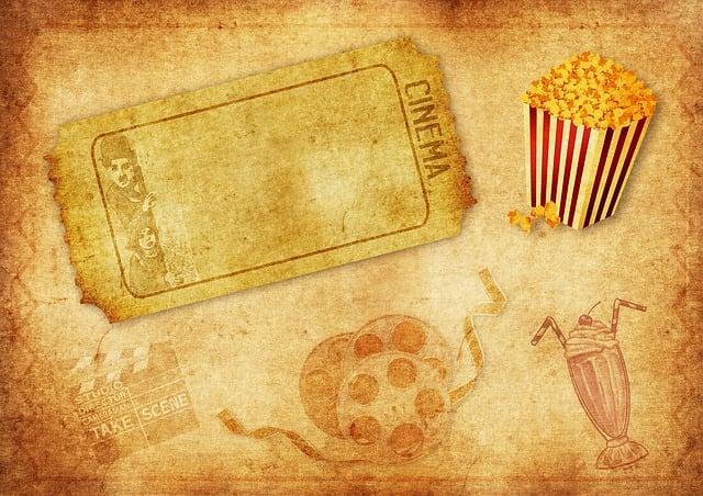 Cinema, Demolition Map, Popcorn, Film Roll