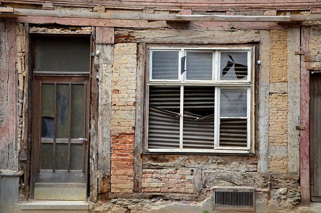 House, Demolition, Old, Dilapidated, Window, Door