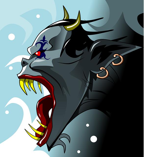 Demon, Devil, Evil, Monster, Alien, Cartoon, Head, Face