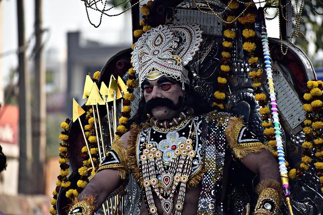 Ravana, Costume, Ramleela, Ramayana, Demon, Dusshera