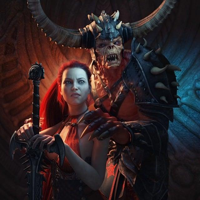 Fantasy, Demon, Sword, 3d, Horror, Devil, Dark, Scary