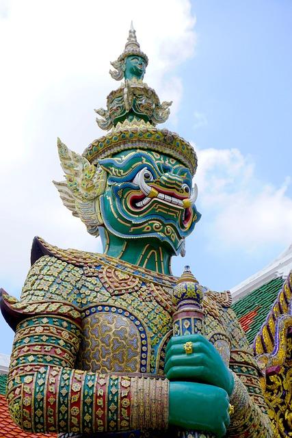 Wat Phra Kaew, Wat, Temple, Buddhism, Yaksha, Demon