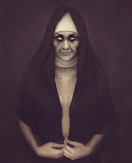 Nun, Zombie, Possessed, Dark, Demoniac, Sister, Undead