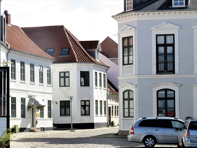 Houses, Small Town, Denmark, Building, Architecture