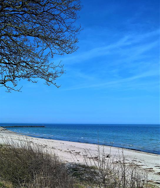 Baltic Sea, Denmark, Coast, Sand Beach, Steinbuhne