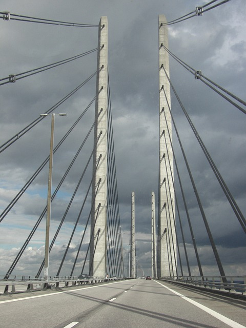 Bridge, Denmark, Highway, Oresund Bridge