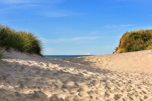 Sun, North Sea, Beach, Dune, Holiday, Coast, Denmark