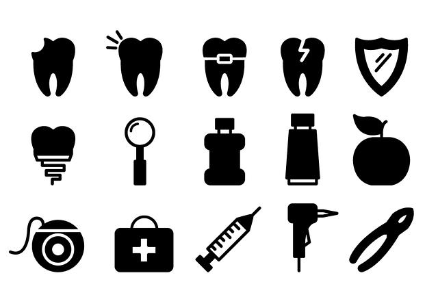 Dental Icons, Dentist, Tooth, Dental, Health, Dentistry