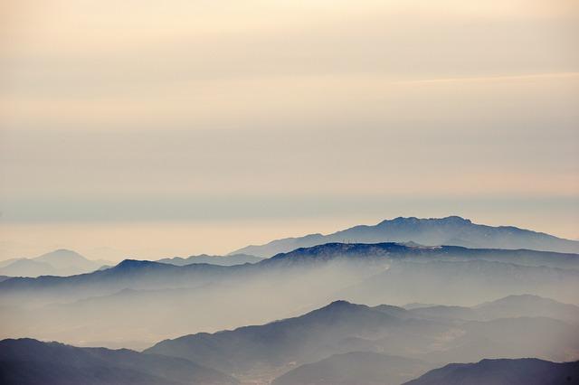 Deogyusan, Muju, Jeollabuk Do, Fog, Mountain