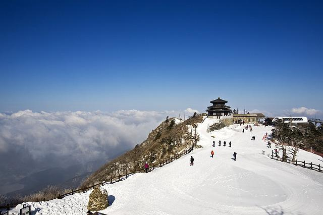 Deogyusan, Seolcheonbong, Snow, Winter, Mountain