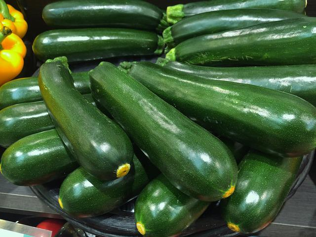 Zucchini, Green, Vivid, Vegetables, Department