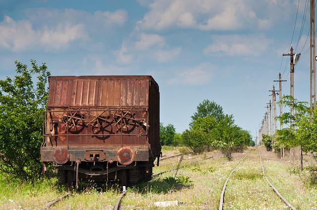 Depot, Train, Railroad, Rust