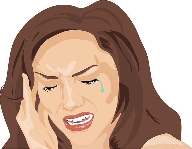 Headache, Woman, Sad, Cry, Unhappy, Depressed, Sadness