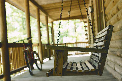 Bench, Bicycle, Bike, Chair, Depth Of Field, Porch