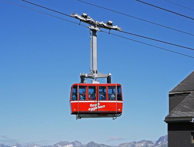 Switzerland, Cable Car, Fiesch, Eggishorn, Descent