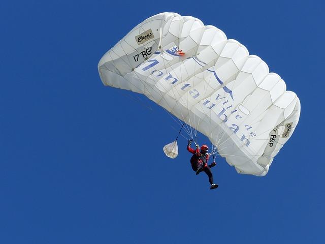 Sport, Skydiving, Competition, Descent, Parachute, Sky