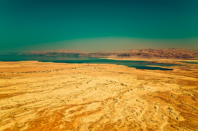 Israel, Desert, Sand, Barren, Dry, Hot, Arid, Lake