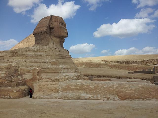 Egypt, Sphinx, Giza, Desert, Stone