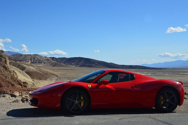 Ferrari, Death Valley, Car, Desert, Nature, Vehicle