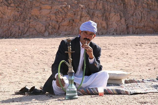 India, Hookah, Desert, Man