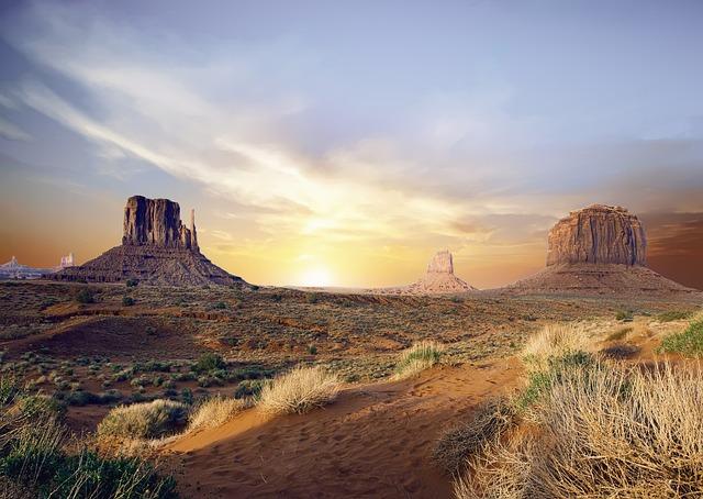 Valley, Desert, Mountain, Landscape, Dry, Wilderness