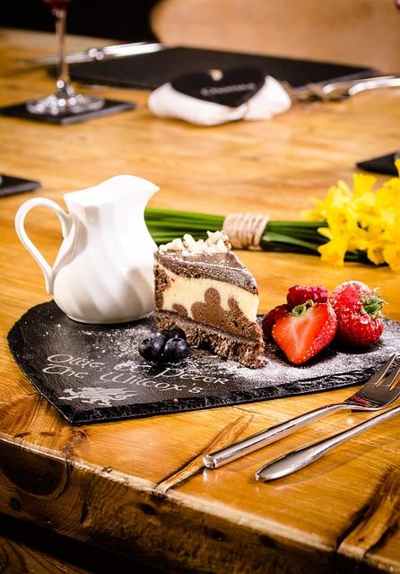 Desert, Slate, Pudding, Dining, Food, Dessert, Sweet