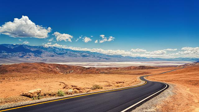 Death Valley, Road, Landscape, Desert, Nature