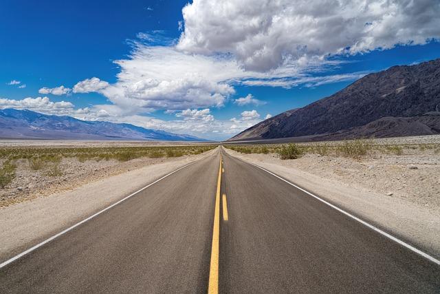 Death Valley, Road, Landscape, Desert, Nature