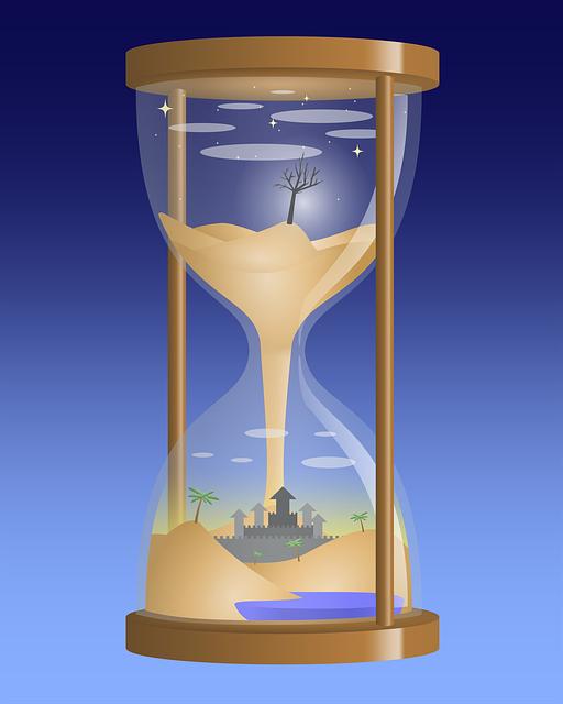 Hourglass, Sand, Surreal, Landscape, Fantasy, Desert