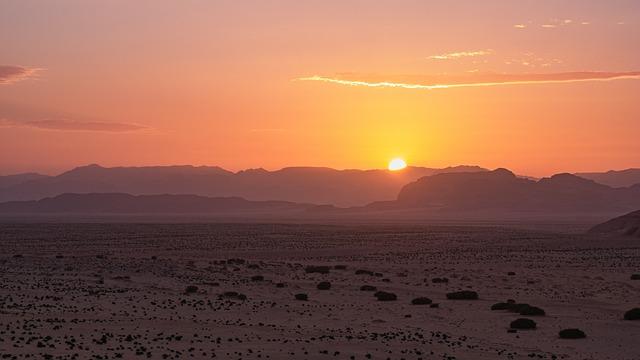 Sunset, Desert, Wadi Rum, Jordan, Landscape, Sand, Sky