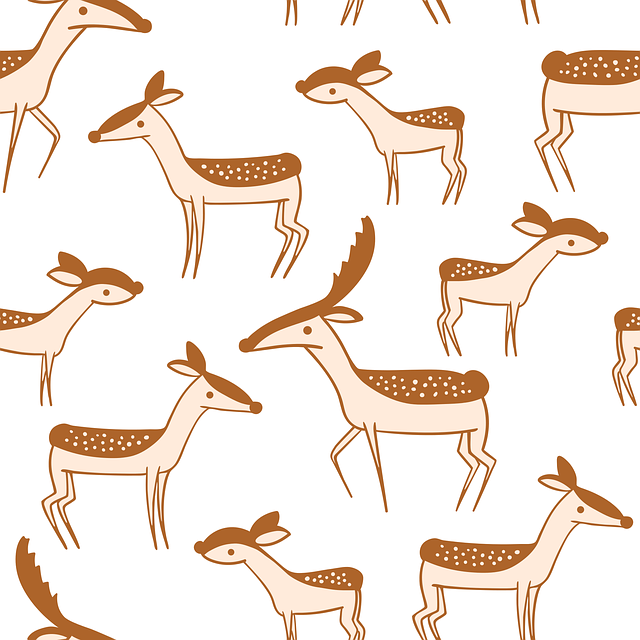Deer, Pattern, Design, Animal, Cute Wallpaper